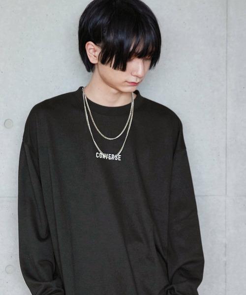 CONVERSE/コンバース 別注 フロント 袖刺繍 オーバーサイズ プルオーバースウェット