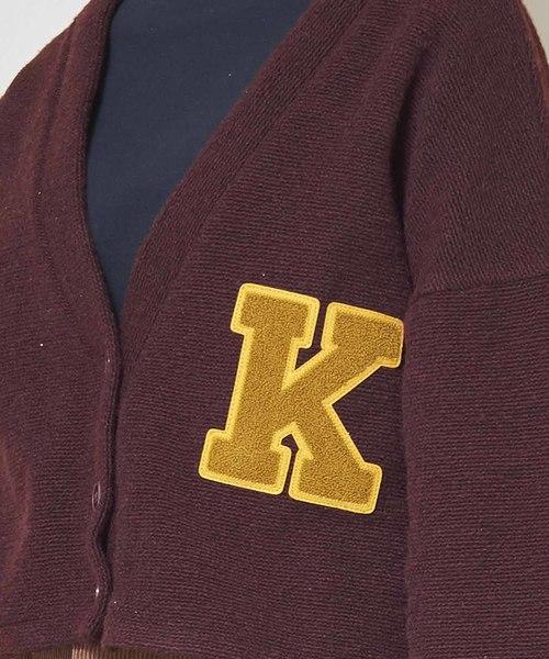 「KHA:KI / カーキ」レタードショートカーディガン