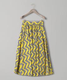 <LE GLAZIK (ル・グラジック)> バティック柄 プリント スカート