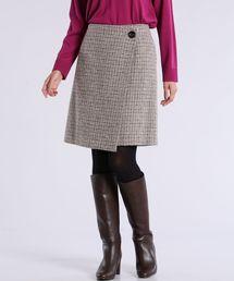 CLEAR IMPRESSION (クリアインプレッション)のチェック柄ウールスカート(スカート)