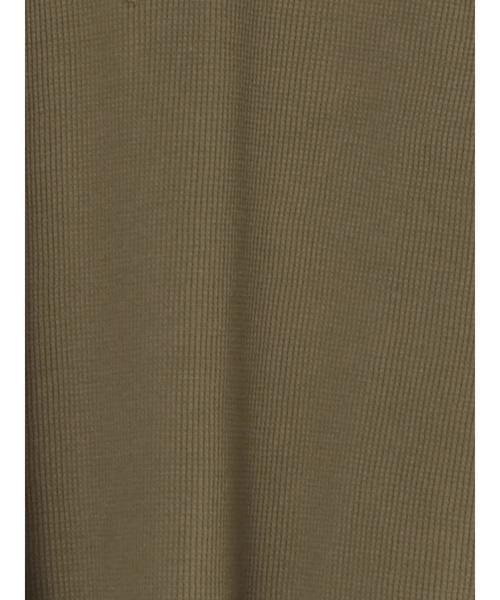 CRAFT STANDARD BOUTIQUE(クラフトスタンダードブティック)の「ワッフルヘンリーネックカットプルオーバー●(Tシャツ/カットソー)」|詳細画像