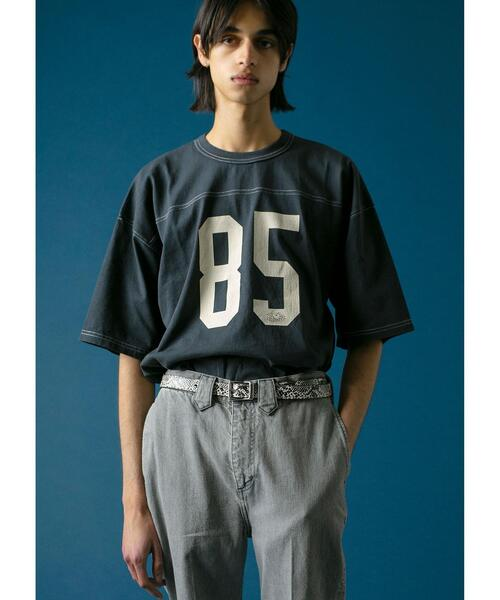 <FURIT OF THE LOOM × monkey time> FOOT BALL TEE/フットボールTシャツ
