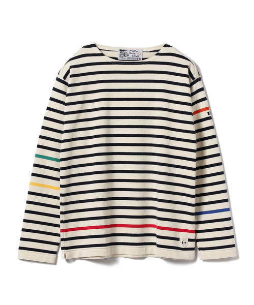 Fileuse d'Arvor × BEAMS LIGHTS / 別注 カラー切り替えバスクシャツ