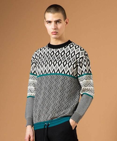 【在庫有】 ドッキングパターンニット(ニット UNITED TOKYO/セーター)|UNITED TOKYO(ユナイテッドトウキョウ)のファッション通販, ニット生地shop BOBBIN:0502be2e --- blog.buypower.ng