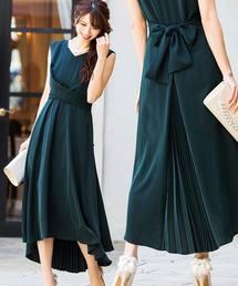 Fashion Letter(ファッションレター)のクロスベルト バックプリーツ ドレス(ドレス)