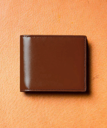 MURA(ムラ)のコードバン調/カーボン レザー box型小銭入れ 二つ折り財布(財布)