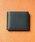 MURA(ムラ)の「コードバン調/カーボン レザー box型小銭入れ 二つ折り財布(財布)」|ブラック系その他