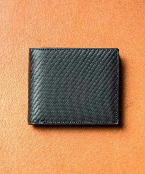 ed80a6a19cfb MURA(ムラ)のコードバン調/カーボン レザー box型小銭入れ 二