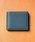 MURA(ムラ)の「コードバン調/カーボン レザー box型小銭入れ 二つ折り財布(財布)」|ブルー系その他