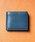 MURA(ムラ)の「コードバン調/カーボン レザー box型小銭入れ 二つ折り財布(財布)」|ネイビー