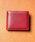 MURA(ムラ)の「コードバン調/カーボン レザー box型小銭入れ 二つ折り財布(財布)」|ワイン