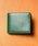 MURA(ムラ)の「コードバン調/カーボン レザー box型小銭入れ 二つ折り財布(財布)」|グリーン