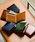 MURA(ムラ)の「コードバン調/カーボン レザー box型小銭入れ 二つ折り財布(財布)」|ブラック