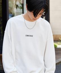 CONVERSE/コンバース 別注 フロント/袖刺繍 オーバーサイズプルオーバースウェットオフホワイト