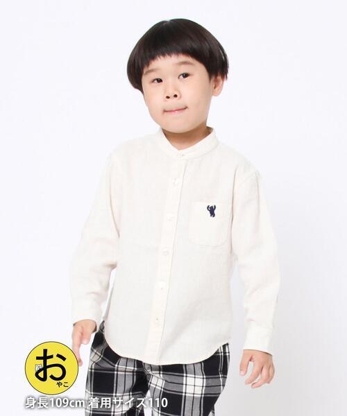 【coen キッズ / ジュニア】ウィンターリネンバンドカラーシャツ