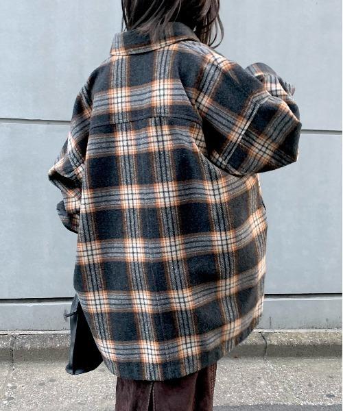 CIAOPANIC(チャオパニック)の「ビッグシャツオーバーコート/シャツジャケット/チェック柄(その他アウター)」 チェック