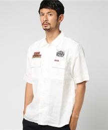 FERGADELIC METAL プリント 半袖ワークシャツ