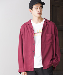WEGO(ウィゴー)のWEGO/フィブリルオープンカラーシャツ(シャツ/ブラウス)