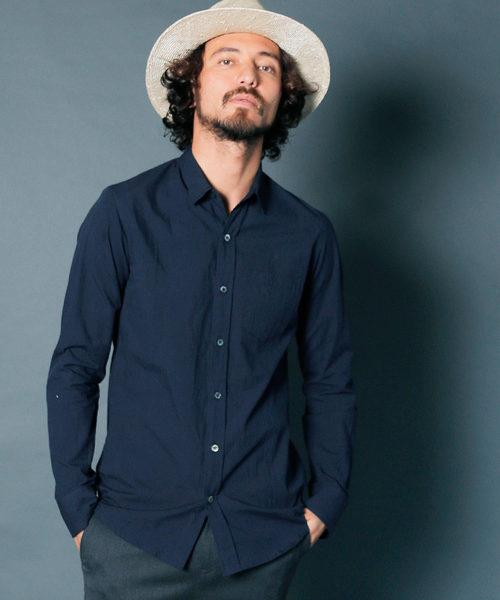 CTN CHAMBRAY STANDARD SHIRTS L/S:コットン シャンブレー スタンダードシャツ