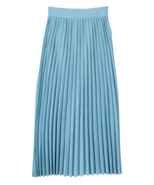 titivate(ティティベイト)の「プリーツロングスカート(スカート)」|ライトブルー
