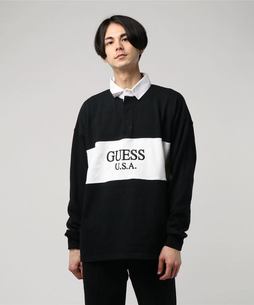 GUESS 2Tone Rugby Shirt