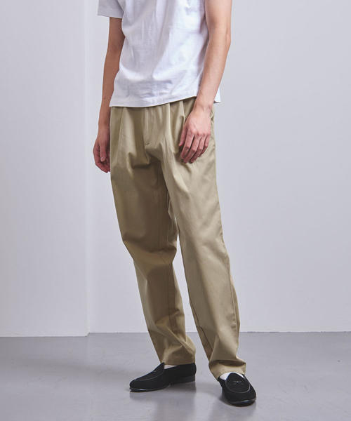 <E.TAUTZ(イートウツ)> PLEATED CHINO