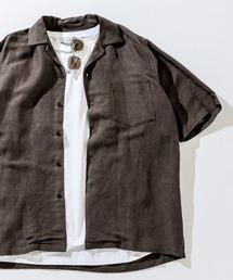 CIAOPANIC TYPY(チャオパニックティピー)の麻レーヨンオープンカラーシャツ(シャツ/ブラウス)