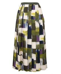 <Drawer(ドゥロワー)> ポリエステルプリントプリーツスカート