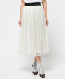 Pierrot(ピエロ)のロング丈 チュールスカート(スカート)