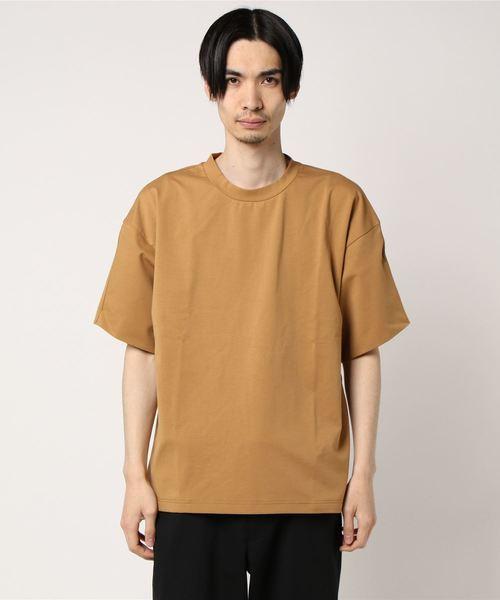 MORGAN HOMME(モルガンオム)の「ライトポンチオーバーT(Tシャツ/カットソー)」|キャメル