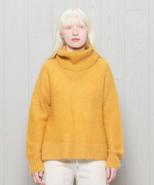 <BAUM UND PFERDGARTEN>MOHAIR COLOR TURTLE NECK KNIT/ニット ◆