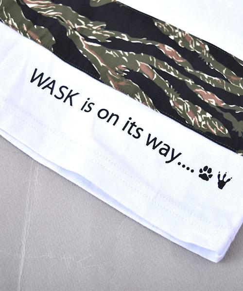 WASK/天竺切替柄ワイドTシャツ(140cm~160cm)