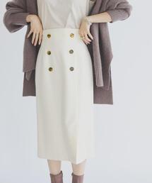 EMMEL REFINES(エメルリファインズ)のFC カルゼ WボタンIラインスカート(スカート)