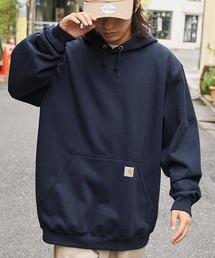 carhartt(カーハート)  M MW Hooded Sweatshirt オーバーサイズ プルオーバーパーカーネイビー