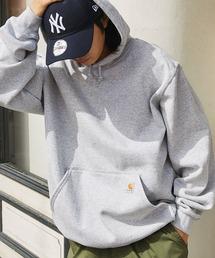 carhartt(カーハート)  M MW Hooded Sweatshirt オーバーサイズ プルオーバーパーカーグレー