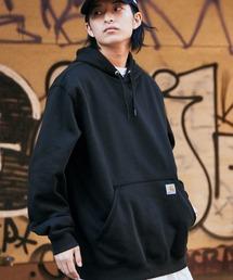 carhartt(カーハート)  M MW Hooded Sweatshirt オーバーサイズ プルオーバーパーカーブラック