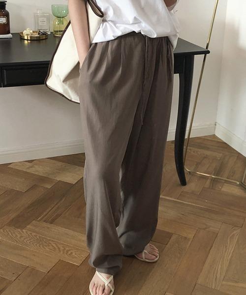 【chuclla】Satin-touch relax pants sb-4 chw1156