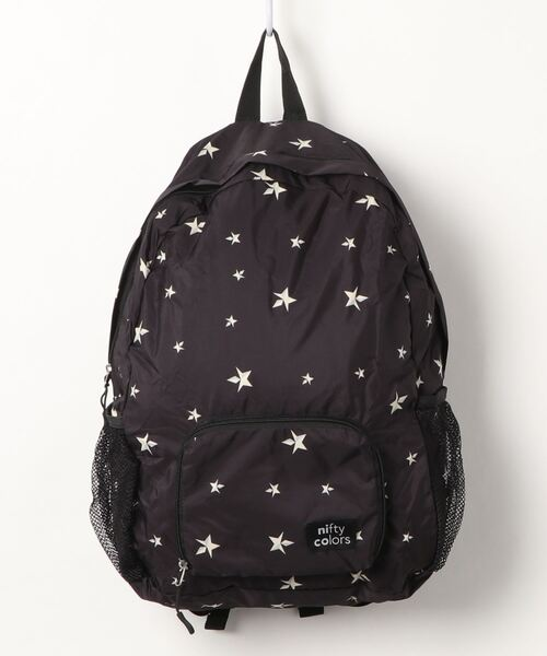 【 nifty colors / ニフティーカラーズ 】Rain pocketable backpack・・