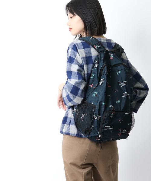 【 nifty colors / ニフティーカラーズ 】Rain pocketable backpack・・