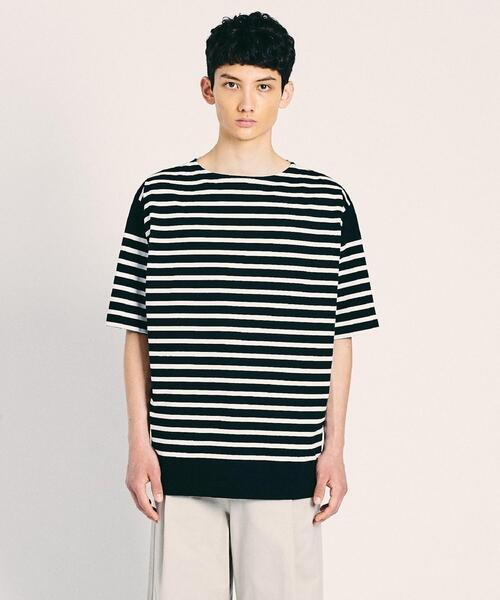<UNITED ARROWS> Le minor 5分袖 バスクシャツ