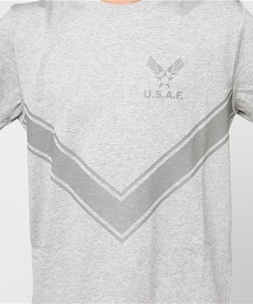 【HOUSTON】リフレクトプリントTEE(USAF)