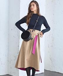 CS スウェードライク ボンディングスカート
