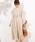 natural couture(ナチュラルクチュール)の「前後2WAYカシュクールプリーツワンピース(ワンピース)」|ライトベージュ