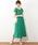 natural couture(ナチュラルクチュール)の「前後2WAYカシュクールプリーツワンピース(ワンピース)」|グリーン