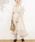 natural couture(ナチュラルクチュール)の「前後2WAYカシュクールプリーツワンピース(ワンピース)」|アイボリー