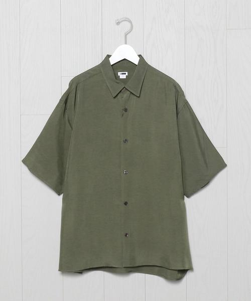 <H>WASHED DRAPY SHORT SLEEVE SHIRT/シャツ