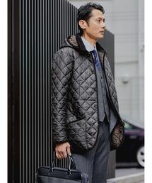 【別注】<Traditional Weatherwear×green label relaxing>WAVERLY TW フード キルティング ジャケット