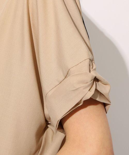 【抗菌防臭】袖ねじりバックリボンシャツ
