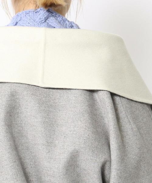 TOMORROWLAND(トゥモローランド)の「プレミアムカシミヤリバー ベルテッドコート(その他アウター)」 詳細画像