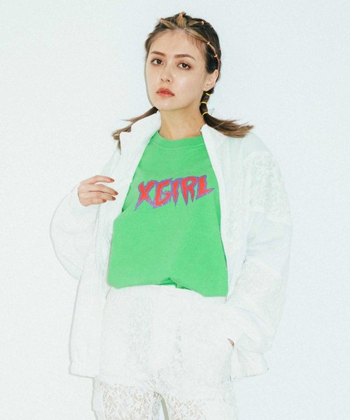 X-girl(エックスガール)の「LACE ZIP UP JACKET(ブルゾン)」|ホワイト